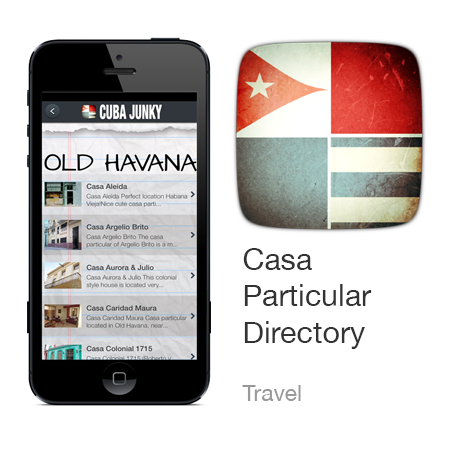 Cuba Casa Particular Directory App for Android and iPhone
